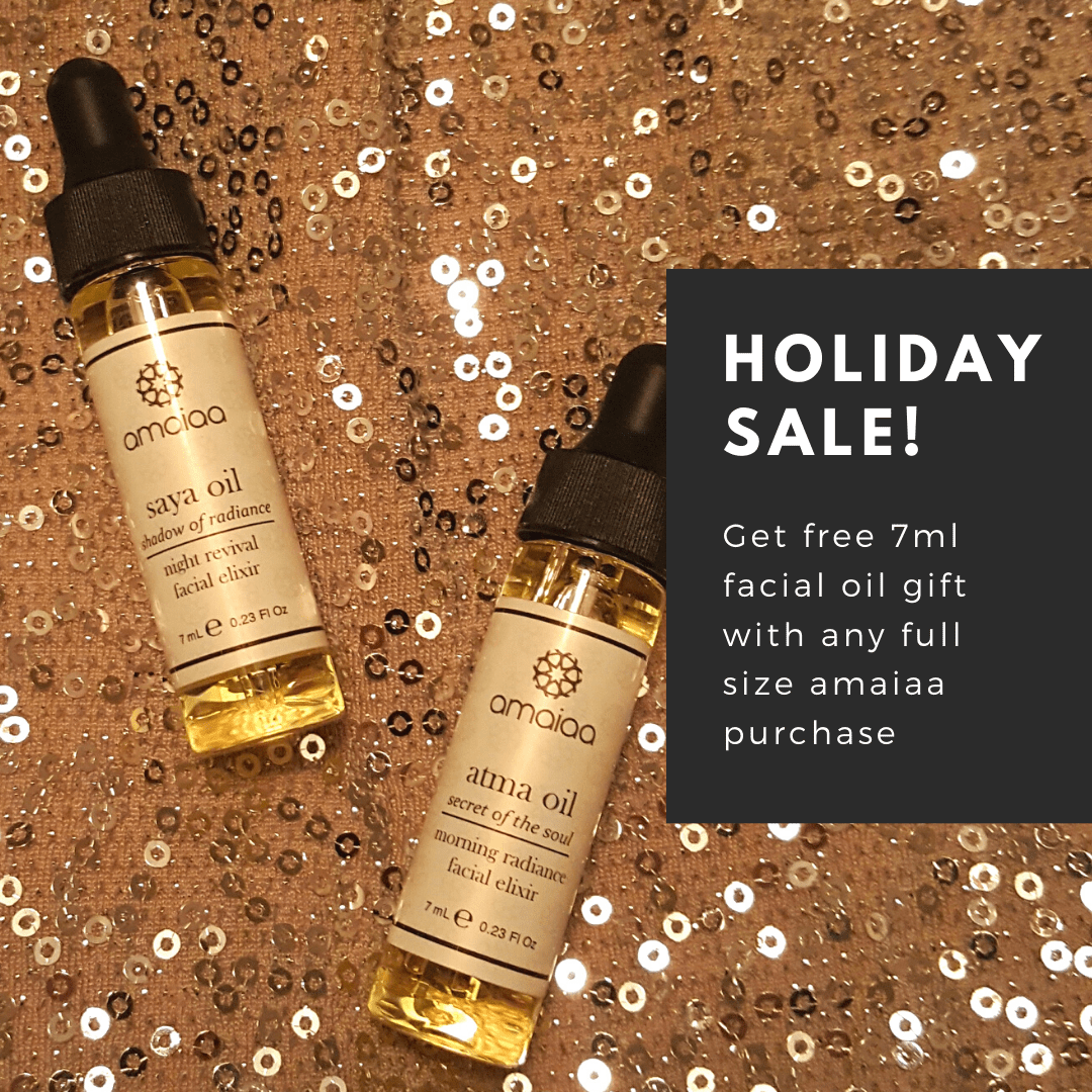 free facial oil with a full size purchase - amaiaa